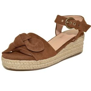 Chase & Chloe suede espadrille wedge sandals